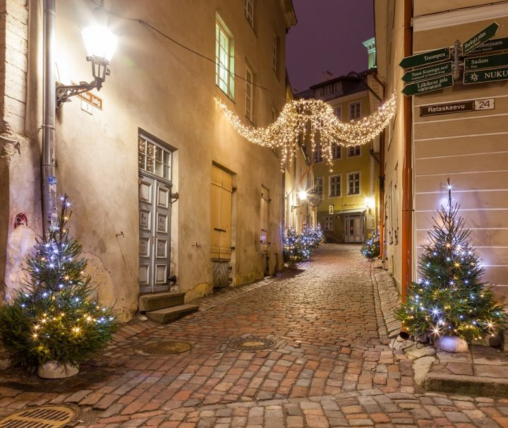 Julbelysning i Tallinn